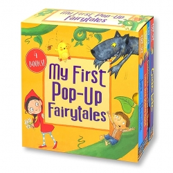 My First Pop-Up Fairytales 4 Books Collection Set (Chicken Licken, Little Red Riding Hood, Goldilocks, Jack and the Beanstalk) Photo