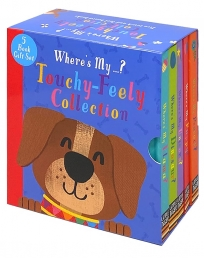 Wheres My Touchy Feely 5 Book Set Collection Library (Dinosaurs, Llama, Unicorn, Puppy & Peacock) Photo