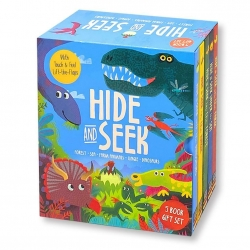 Hide and Seek Touch & Feel Lift the Flap 5 Books Collection Box Set (Forest, Sea, Farm Animals, Jungle & Dinosaurs) Photo