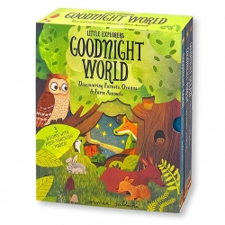 Peep Inside Goodnight World Little Explorers series 3 Books Collection Box Set (Goodnight Farm, Goodnight Forest, Goodnight Ocean) Photo