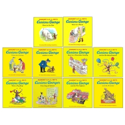 The Curious George Collection Series 10 Books Box Set Fire-fighters, Birthday Surprise, Dinosaur, Goes to the Zoo, Goes to a Chocolate Factory & MORE Photo