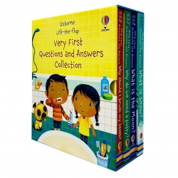 Usborne Lift-the-flap Series My Very First Questions and Answers Collection 4 Books Box Set Photo