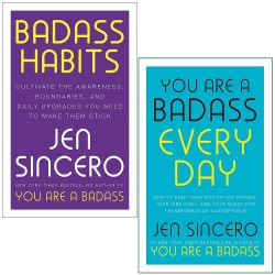 Badass Habits & You Are a Badass Every Day By Jen Sincero 2 Books Collection Set Photo