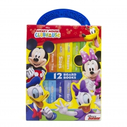 Disney Junior Mickey Mouse Clubhouse My First Library Board Book Block 12 Book Set Photo