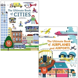 The Ultimate Book Series 2 Books Collection Set (Ultimate Book of Cities & Ultimate Book of Airplanes and Airports) Photo
