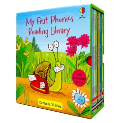 Usborne My First Phonics Reading Library 15 Books Collection Box Set (Phonics Readers) (WITH FREE AUDIO ONLINE) Photo