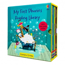 Usborne My First Phonics Reading Library 12 Books Collection Box Set (Phonics Readers) (WITH FREE AUDIO ONLINE) Photo