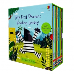 Usborne My First Phonics Reading Library 20 Books Collection Box Set (Phonics Readers) (WITH FREE AUDIO ONLINE) Photo