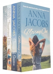 Anna Jacobs Collection 4 Books Set (Moving On, Change of Season, Tomorrows Path, Cotton Lass and Other Stories) Photo