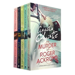 Agatha Christie 5 Books Set The Murder Of Roger Ackroyd, The Abc Murders, Evil Under The Sun, Murder On Orient Express, 5 Little Pigs by Agatha Christie