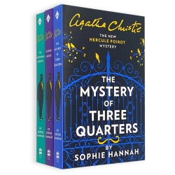 Agatha Christie Hercule Poirot Mysteries 3 Books Collection Set - The Monogram Murders, Closed Casket, Mystery of Three Quarters Photo