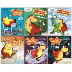 The Dinosaurs That Pooped Collection 6 Books Set (The Dinosaur That Pooped The Past, Christmas, A Pirate, A Planet, The Bed, A Princess) Photo