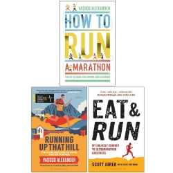 How to Run a Marathon, Running Up That Hill, Eat and Run 3 Books Collection Set Photo