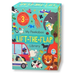 My Peekaboo Lift The Flap Library 3 Books Collection Box Set (Things That Go, Animals & Farm) Photo