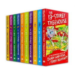 Andy Griffiths The Treehouse Collection 10 Books Set 13 Storey, 26 Storey, 39 Storey, 52 Storey, 65 Storey, 78 Storey, 91 Storey, 104 Storey