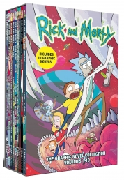 Rick and Morty The Graphic Novel Collection Volumes 10 Books Box Set Photo