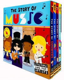 The Story of Music Little People and Pop Artists Series 4 Books Collection Box Set (Pop, Rock, Rap & Country) Photo
