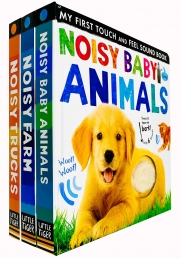 My First Touch and Feel Sound Series 3 Books Collection Set (Noisy Baby Animals, Noisy Farm & Noisy Trucks) Photo