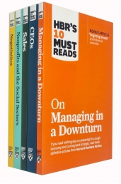 HBRs 10 Must Reads Collection 5 Books Set (Managing in a Downturn, CEOs, Sales, Nonprofits and the Social Sectors, Negotiation) Photo