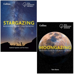 Royal Observatory Greenwich 2 Books Collection Set (Collins Stargazing & Moongazing) Photo