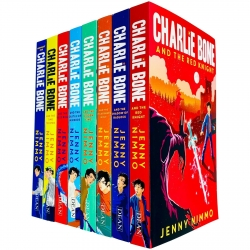 Charlie Bone Collection 8 Books Set by Jenny Nimmo The Time Twister The Blue Boa The Hidden King, The Red Knight, The Shadow of Badlock Photo