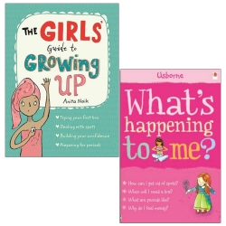 The Girls Guide to Growing Up, What's Happening to Me Girls 2 Books Collection Set Photo