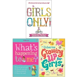 Girls Only, What's Happening to Me Girls, Growing Up for Girls 3 Books Collection Set Photo