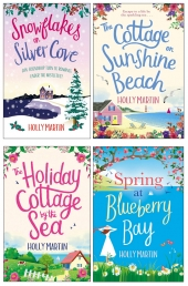 Holly Martin Collection 4 Books Set (Snowflakes on Silver Cove, Spring at Blueberry Bay, The Cottage on Sunshine Beach and More) Photo