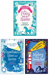 Tracey Corderoy Seaview Stables Adventures Series 3 Books Collection Set (Mystery at Stormy Point, Pony with No Name, Snowflakes Silver and Secrets) by Tracey Corderoy