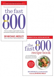 The Fast 800 & The Fast 800 Recipe Book 2 Books Collection Set by Dr Michael Mosley Photo