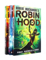 Robin Hood Series 3 Books Collection Set By Robert Muchamore - Piracy Paintballs & Zebras, Hacking Heists & Flaming Arrows, Jet Skis, Swamps Smuggler Photo
