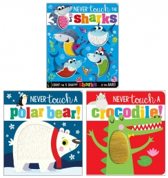 Never Touch and Feel Series 3 Books Collection Set (Series 2) - Never Touch a Polar Bear, Never Touch a Crocodile, Never Touch the Sharks Photo