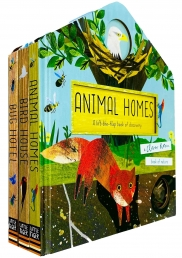 A Clover Robin Book of Nature Series 3 Books Lift-the-flap Collection Set (Bird House, Bug Hotel & Animal Homes) Photo