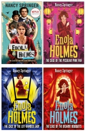 Enola Holmes Mystery Series 4 Books Collection Set by Nancy Springer Photo