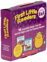 First Little Readers: Guided Reading Levels E & F (Parent Pack): 16 Irresistible Books That Are Just the Right Level for Growing Readers Photo