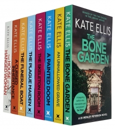 DI Wesley Peterson Novel Series 8 Books Collection Set by Kate Ellis (Bone Garden, A Painted Doom, Plague Maiden, Funeral Boat and MORE!) Photo