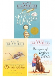 Kate Dicamillo 3 Books Collection Set (The Tale of Despereaux, Flora and Ulysses, Because of Winn-Dixie) Photo