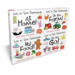 Lots to Spot Flashcards Tray Busy World 4 Pack My food, At Home, On the Go, On the Farm Photo