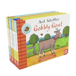 Farmyard Friends Series 4 Books Collection Set by Axel Scheffler (Higgly Hen, Portly Pig, Cuddly Cow & Gobbly Goat) Photo