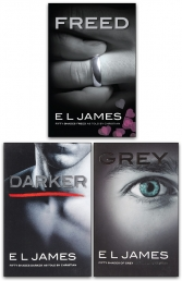 E L James Fifty 50 Shades of Grey, Darker and Freed Classic Original Trilogy 3 Books Collection Set Photo