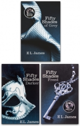 E L James Fifty Shades Movie Series 3 Books Collection Set (Fifty Shades of Grey, Fifty Shades Darker, Fifty Shades Freed) Photo
