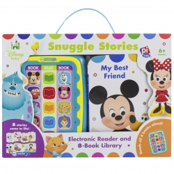 Disney Baby Mickey, Minnie, Frozen, and More! - Electronic Me Reader Jr Snuggle Stories 8 Book Library Photo