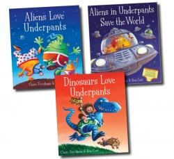 Alien Love Underpants 3 Books Box Set Collection NEW