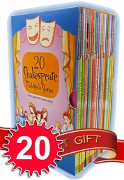 Shakespeare Stories Collection pack box Set 20 childrens Books - Shakespeare for children Romeo and Juliet, Macbeth, Othello, The Tempest ...