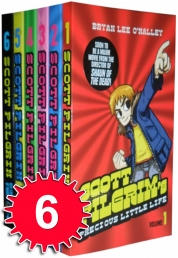 Scott Pilgrim 6 Books Collection Set Bryan Lee O'M Photo