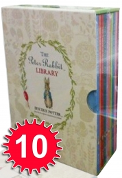 Beatrix Potter Peter Rabbit Library 10 Books Box c Photo