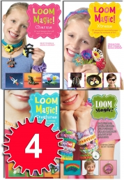 Loom Magic Bands 4 Books Collection Set Charms, Aw Photo