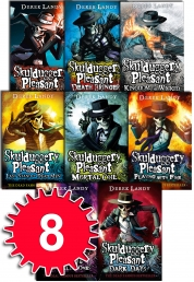 Skulduggery Pleasant Derek Landy 8 Books Set Colle Photo