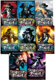Skulduggery Pleasant Derek Landy 8 Books Set Photo
