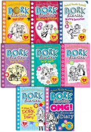 Dork Diaries Rachel Renee Russell Collection 8 Books Set OMG, Skating Sensation